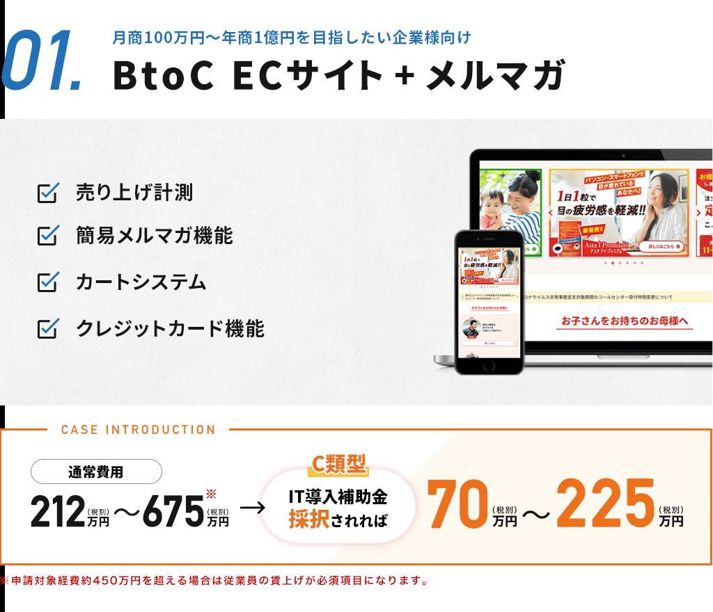 BtoC ECサイト+メルマガ